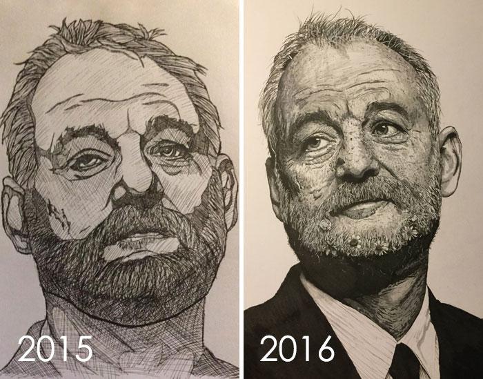 Mi dibujo progresa a lo largo del año, la crítica Y consejos siempre bienvenidos