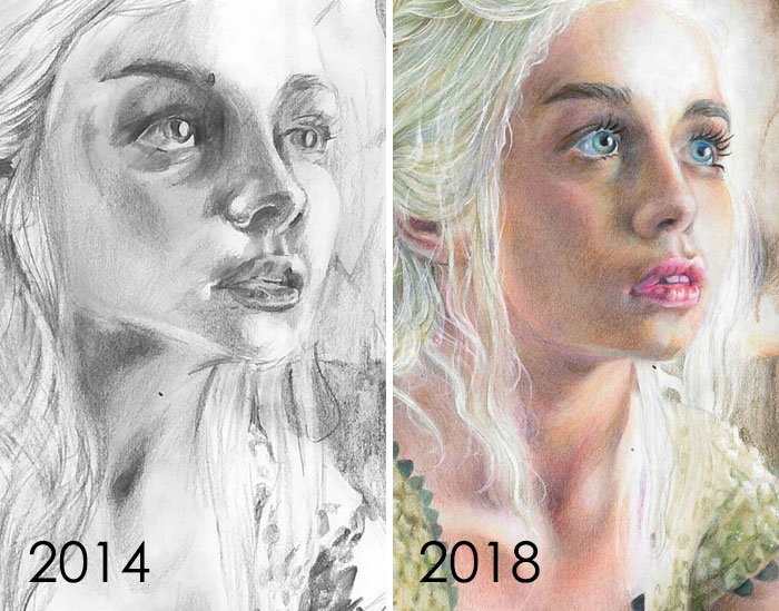 Mayo de 2014 a mayo de 2018: cuatro años de práctica con lápices de colores