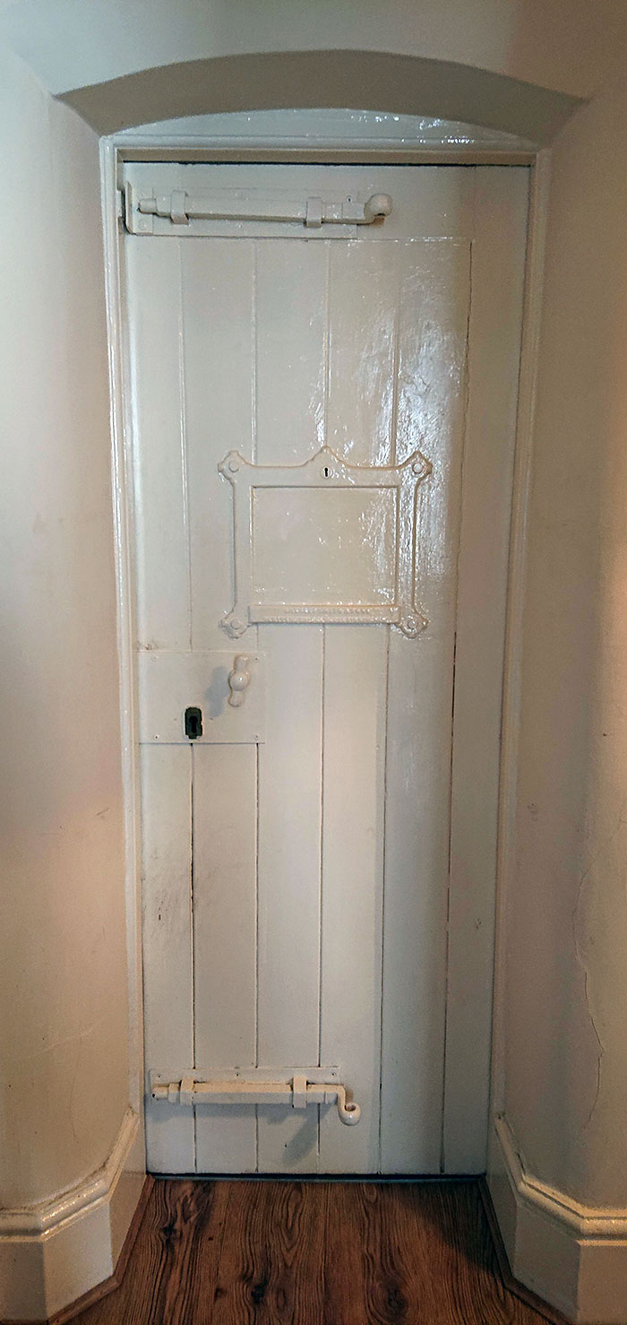 My Apartment Is An Old Police Station And Still Has The Original Cell Doors But Painted