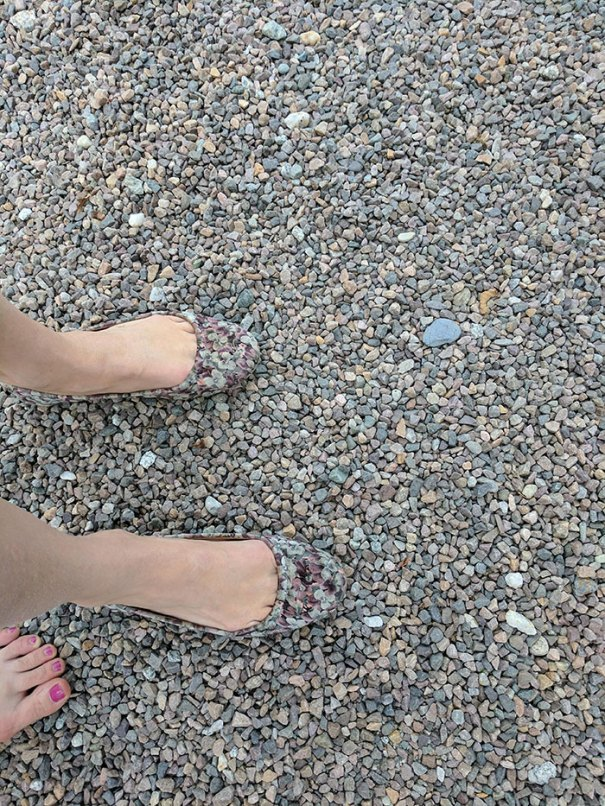 My Friend's Shoes Blend In With The Rocks