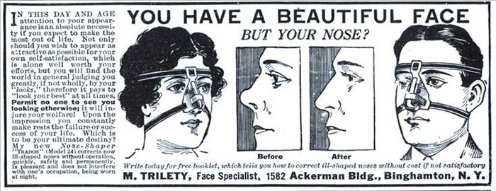 Você tem um rosto bonito, mas seu nariz?