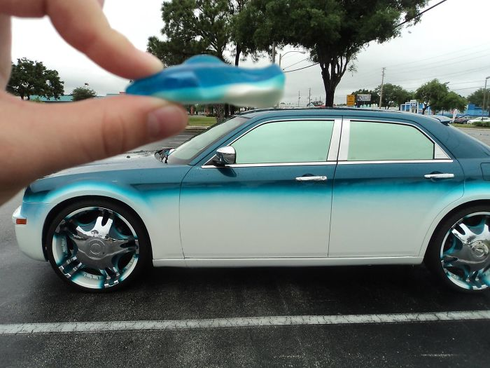 My Sister Saw This Car While She Was Eating Those Shark Candies