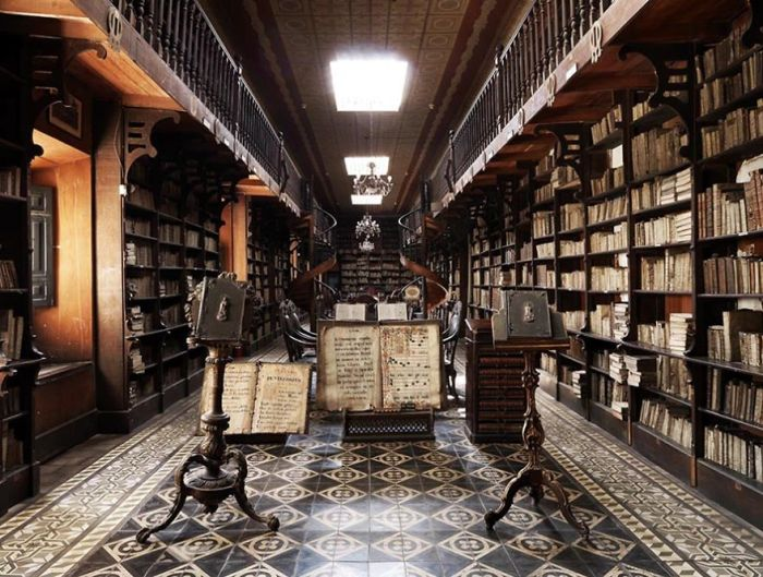 Library Of The Monastery Of San Francisco, Peru, South America