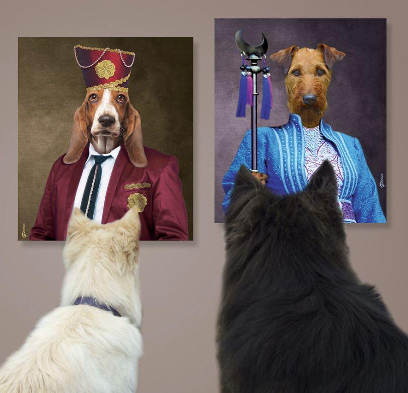 """Pittsburgh based artist creates collection of fine art for refined dogs 5b8dabd38cf54  880 - Artista cria coleção de Belas Artes para """"cães refinados"""""""