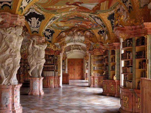Metten Abbey Library, Metten, Germany