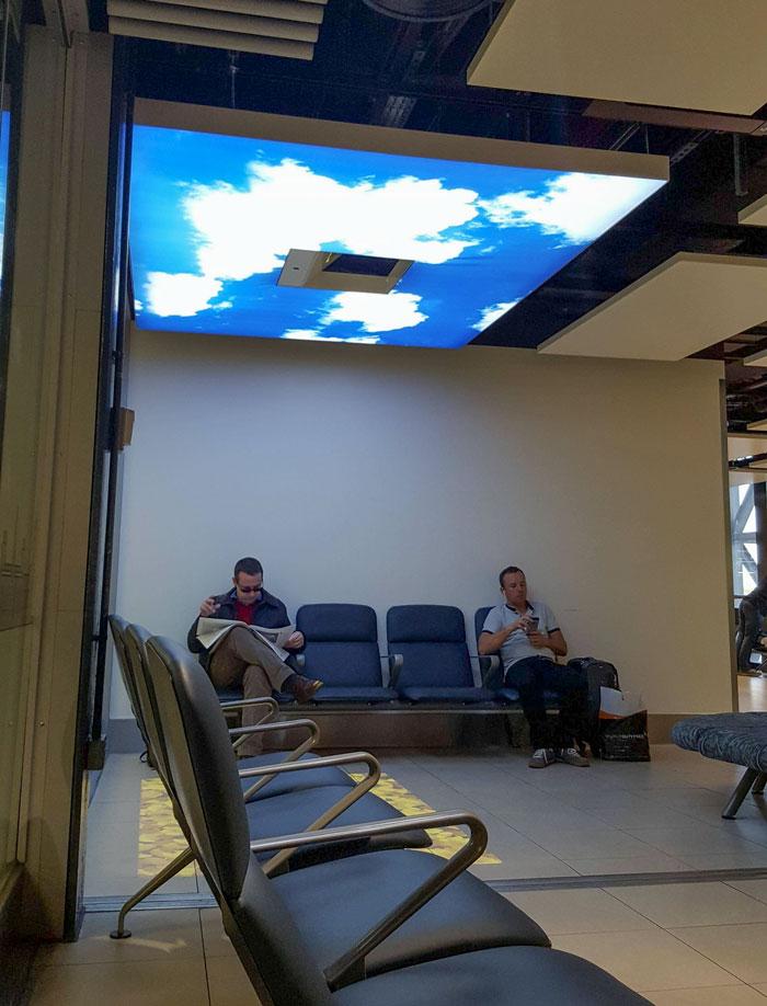 un soplo de aire fresco en el aeropuerto