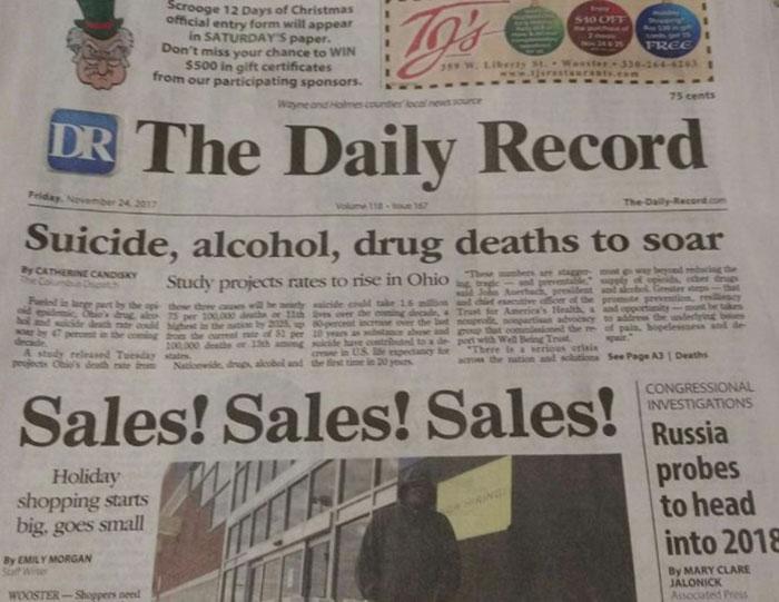 Emborracharse, ir de compras, suicidiarse