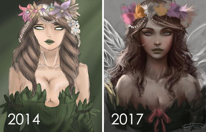 2,5 años entre la 1ª y 2ª imagen