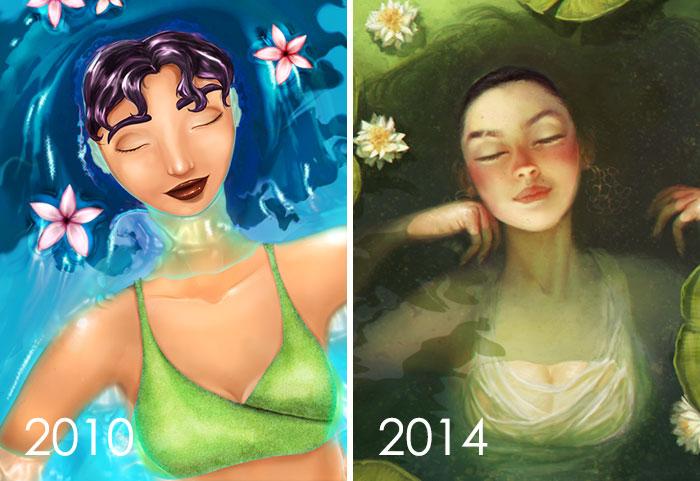 rediseñado un personaje que fue creado en 2010, llamado Semira, ahora llamado Lily. Lo encuentro muy genial para rehacer diseños antiguos, porque es más fácil ver cómo he evolucionado
