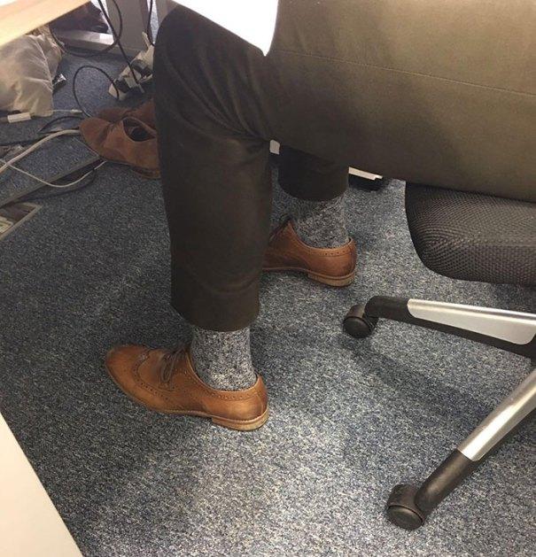 Matching Socks To The Carpet