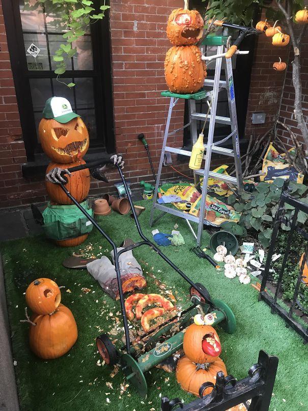My Neighbor's Halloween Display