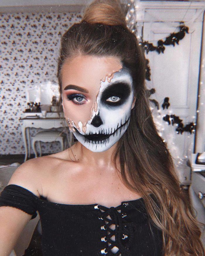 Transformo Yo mismo con maquillaje de Halloween