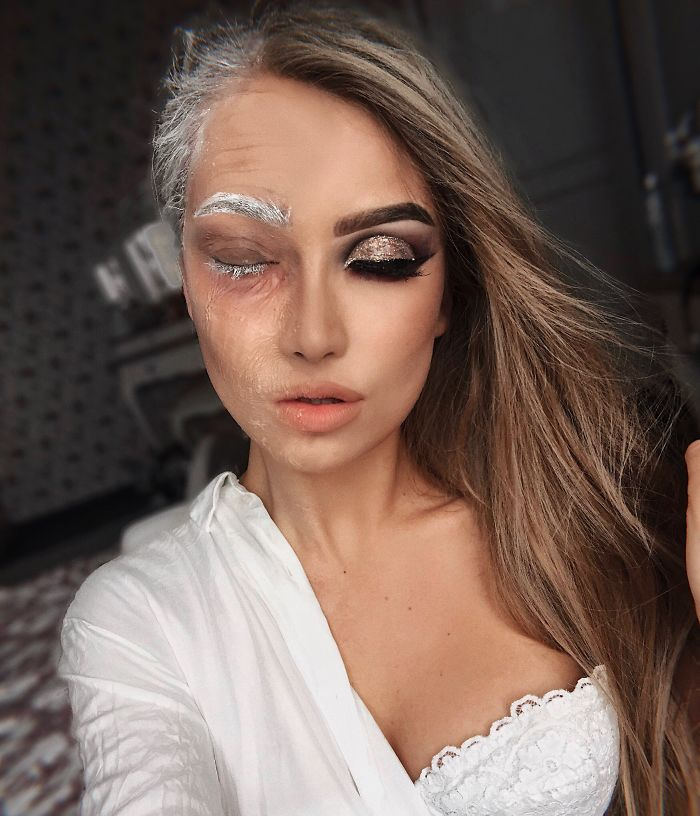 Me transformo Yo mismo con maquillaje de Halloween