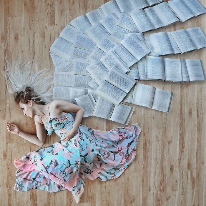 Enamorado de los libros, esta mujer los usa para hacer verdaderas obras de arte