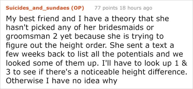 bride-requirements-bridal-party-battle-bridezilla-24-5bd6c41e17f2c__700 Sister Was So Horrified By This Bride's List Of Demands She Shared Them With The Internet Design Random