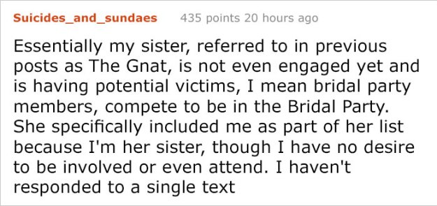bride-requirements-bridal-party-battle-bridezilla-29 Sister Was So Horrified By This Bride's List Of Demands She Shared Them With The Internet Design Random