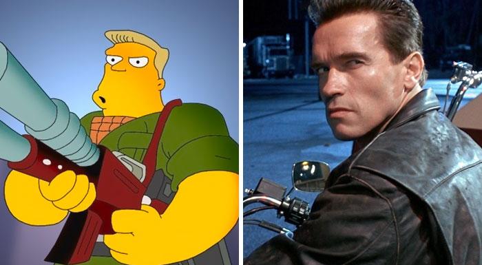 Castelo Rainier dos Simpsons (Arnold Schwarzenegger)