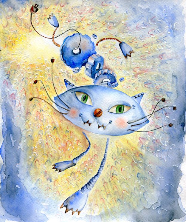 cat7_big-5bbc5363202c9__700 I Challenged Myself To Paint 12 Cats In Different Art Styles Art Design Random