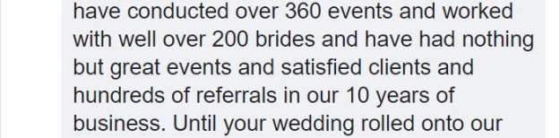 dissatisfied-bride-wedding-palnner-response-4-5bb3208fa1300__700 Bride Posts Rude Comment About Event Planning Company So They Reveal All The Details Design Random