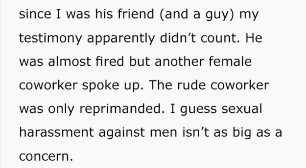 female-sexual-harassment-coworker-story-2-5bb484f3e83cd__700 More Men Are Speaking Up About Being Sexually Harassed At Work And This Guy's Story Shows Why It's Important Design Random