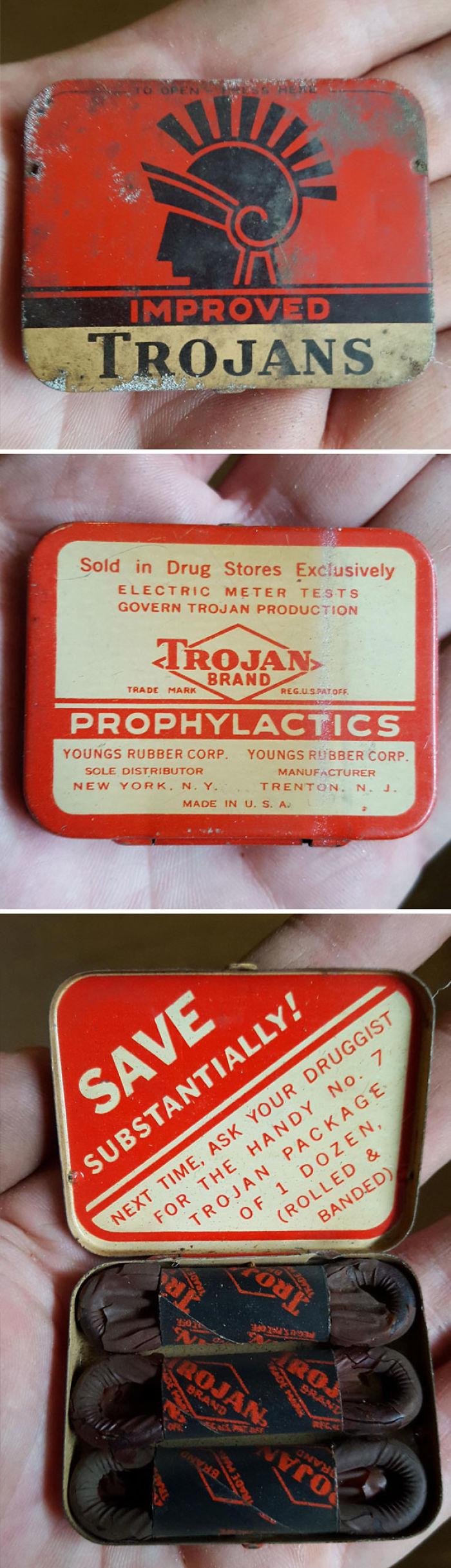 Estos condones tienen alrededor de 60 años (encontrados en mi sótano)