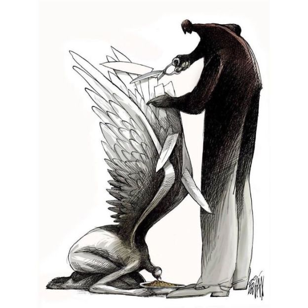 satire-political-cartoon-illustration-angel-boligan-5bd1af4a1a9c0__700 What's Wrong With Today's Society Captured In 25+ Brutally Honest Illustrations By Angel Boligan Art Design Random