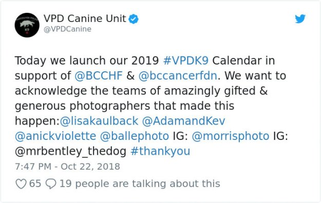 vancouver-police-department-charity-dog-calendar-2019-5bd17b97b5b3b__700 Vancouver Police Canine Unit Just Released Their 2019 Charity Calendar And It's Badass Design Random