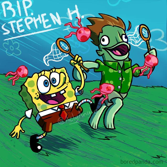 SpongeBob SquarePants forse si diverte con Stephen Hillenburg Ora ... È bello pensarci