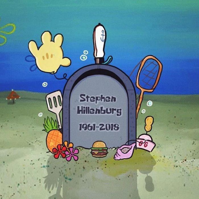 Grazie mille Mr.hillenburg, hai fatto la mia infanzia Colourfull e Divertente, spero che SpongeBob SquarePants non sia mai Die, Toothanks A Lot, Rest In Peace