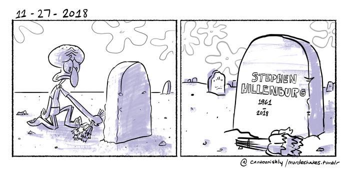 Stephen Hillenburg sarà gravemente mancato. Era un'enorme ispirazione artistica per me e molti altri ...