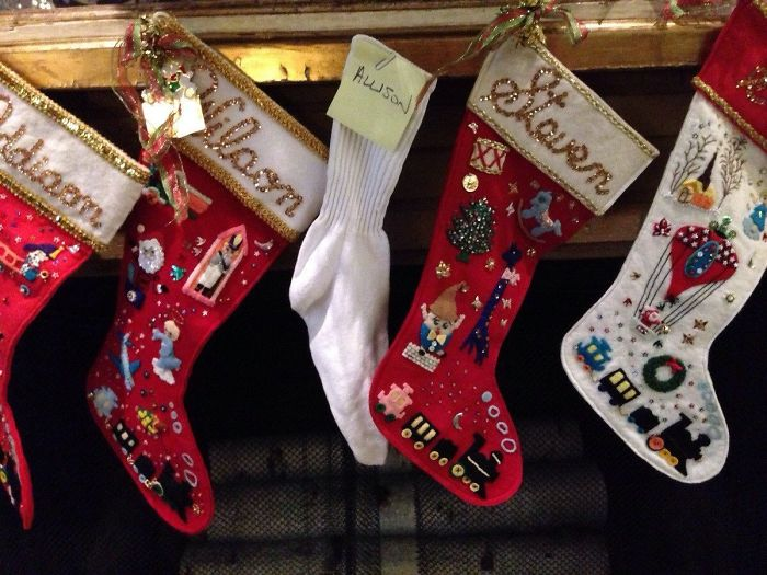 My Parents Made My Wife A Stocking For Christmas