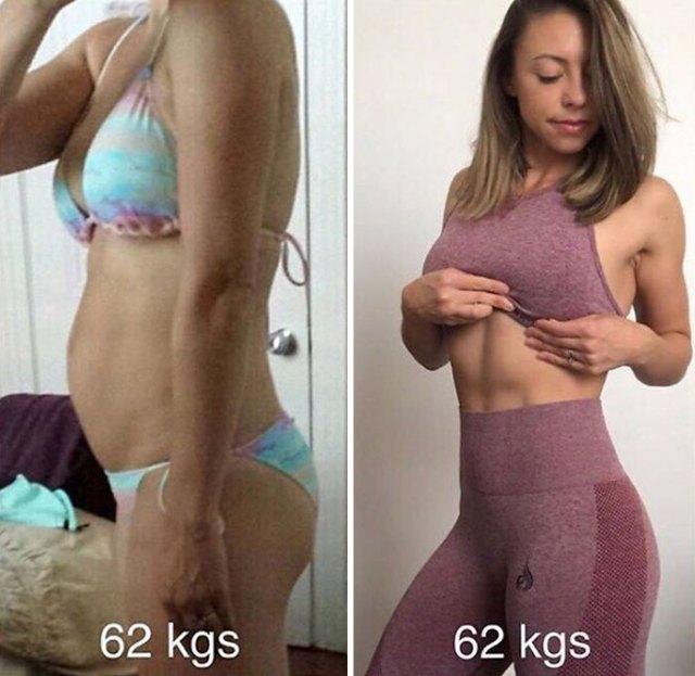 Me empecé a preocupar menos de mi peso y mas de como me sentía