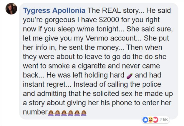 drunk-woman-stolen-money-bar-9-5c078d4769e06__700 Internet Turns Story About Drunk Girl Stealing $2000 From Guy At Bar Into The Perfect Lesson On Rape Culture Design Random
