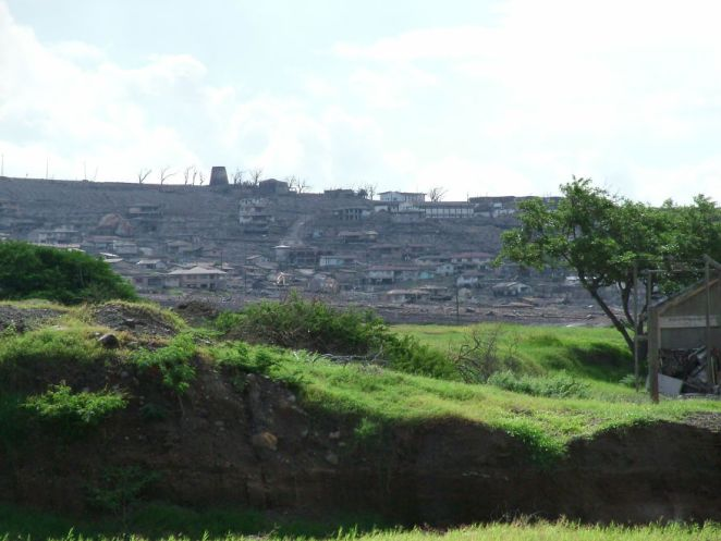 Ruins Of Plymouth From A Safe Distance