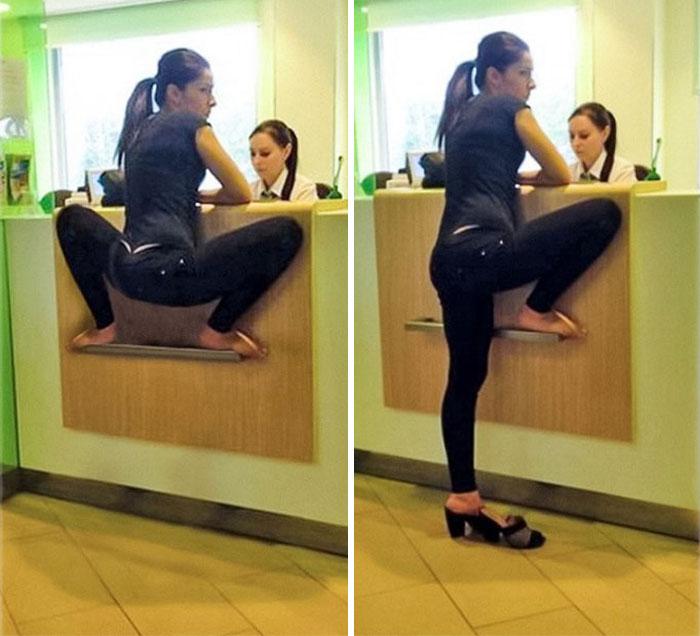 Woman Squatting Like A Frog