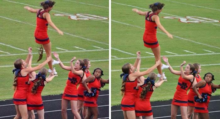 Viral Photo Of A Pooping Cheerleader