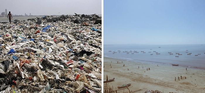 Volunteers Pick Up 5,3 Million Kilograms Of Trash On A Beach In Mumbai