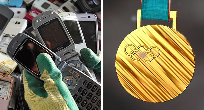 Japan Turns Old Electronic Into Olympic Medals