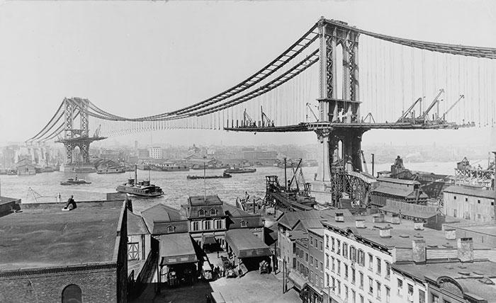Manhattan Bridge In New York City, U.S.