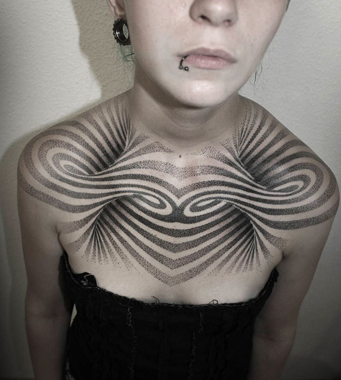 Incredibly Beautiful Chest Tattoo