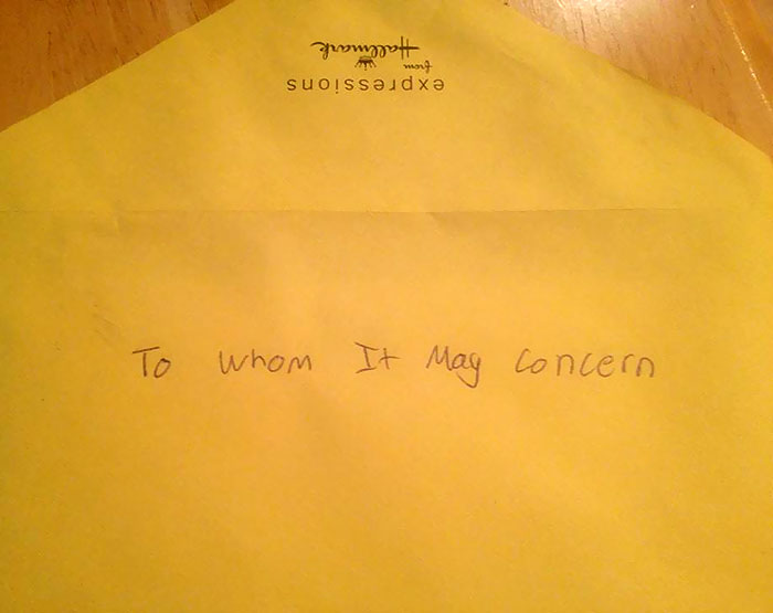This Is How My Brother Addressed Our Mother's Day To Card To Our Mom
