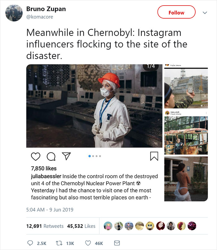 HBO 'Chernobyl' Creator Calls Out Influencers After These Pictures 3