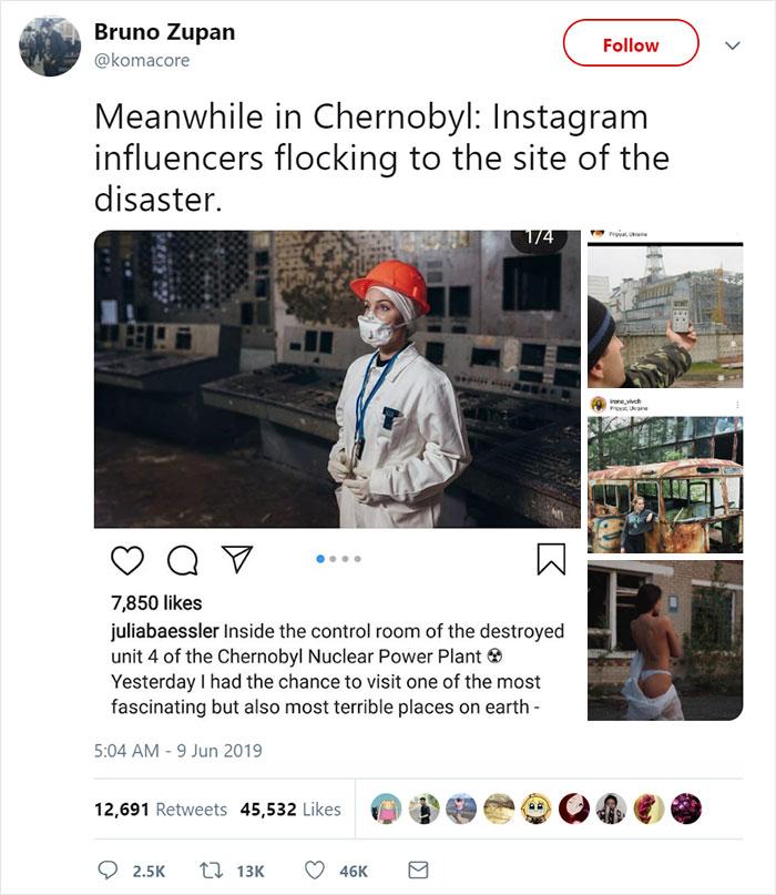 """influencers 13 - Criador de """"Chernobyl"""" da HBO dá puxão de orelha em """"famosinhos"""" do Instagram"""
