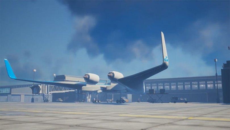 new shape flying v plane studio oso 4 5cf6192936686  700 - Avião de passageiros projetado por estudante economiza 20% de combustível