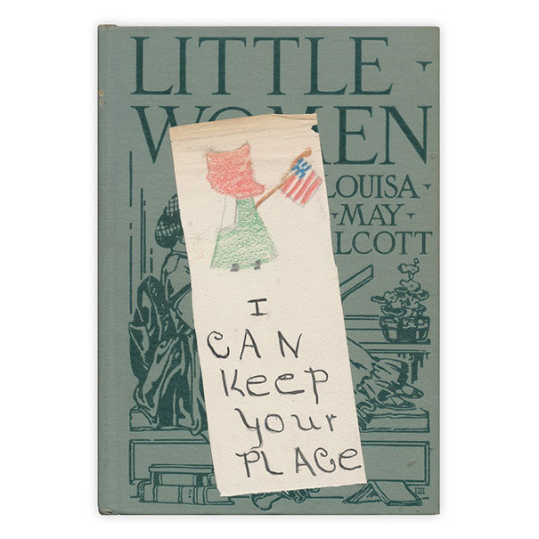 "A Charming Handmade Bookmark Found In ""Little Women"""