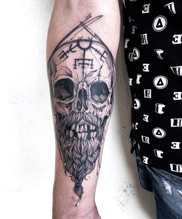 Viking Skull Tattoo