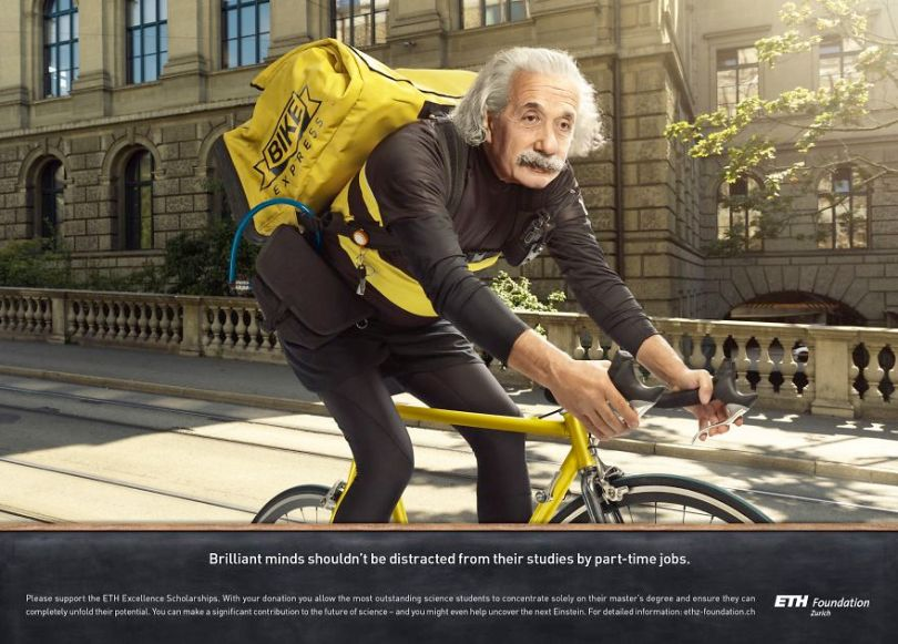 With good sense of humor and creativity advertising agency uses iconic figures from the past to present products 5d56009733378  880 - Agência de publicidade usa figuras icônicas em campanha