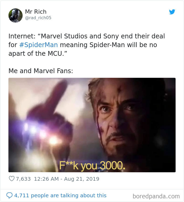 30 Sad And Funny Memes In Response To Sony Taking Back Spider Man