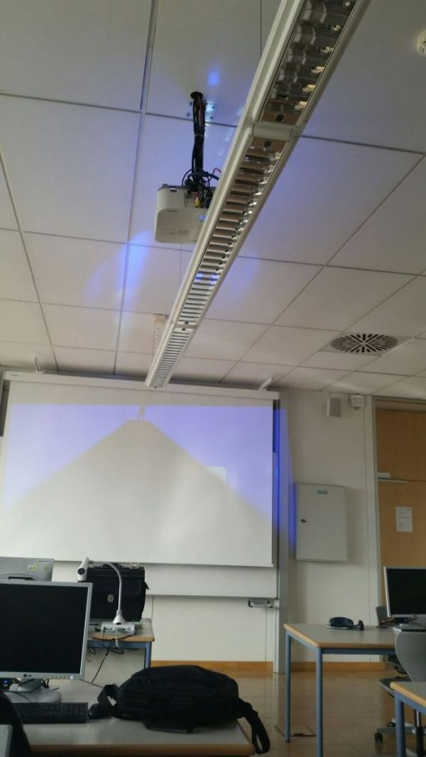 The Way My School Installed The New Projector