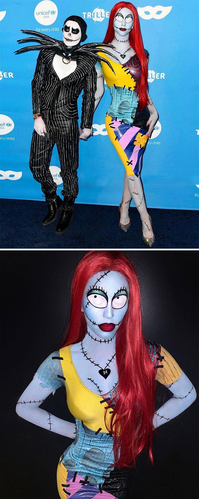 Gigi Gorgeous And Nats Getty Gorgeous As Jack Skellington And Sally